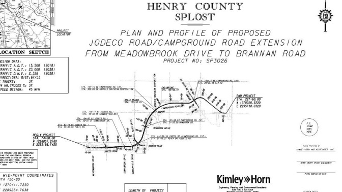Project map for Campground Road extension