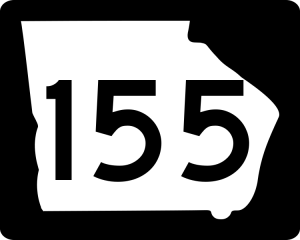 Georgia State Route 155 road sign