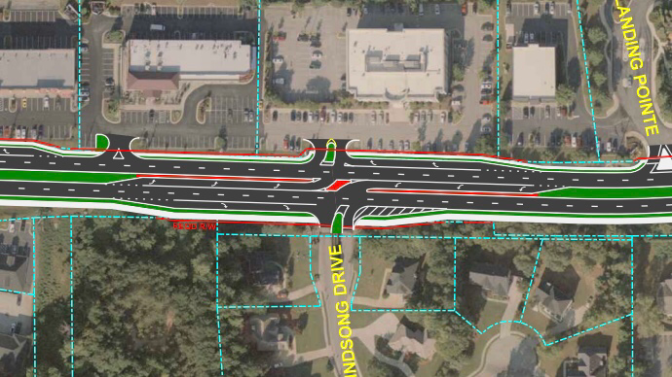 Concept photo of R-Cut intersection along Rock Quarry Road