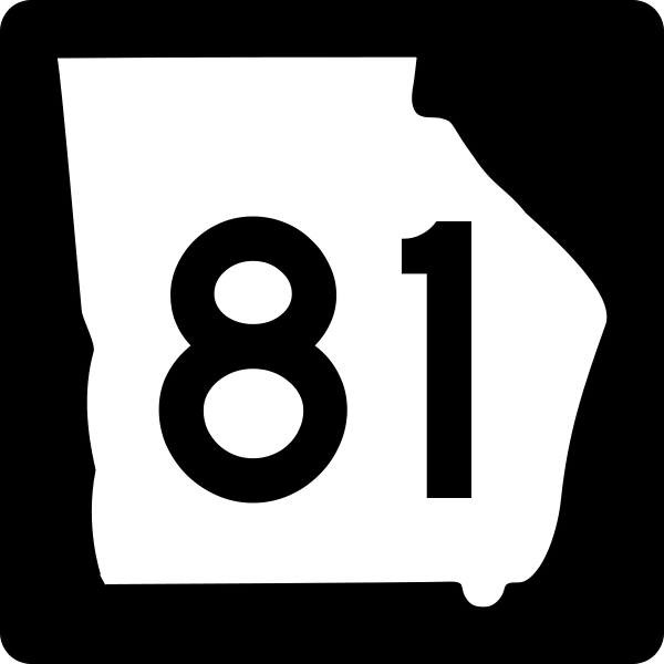 Georgia State Route 81 road sign