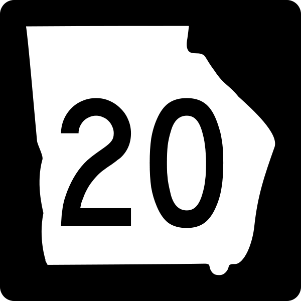 Georgia 20 road sign
