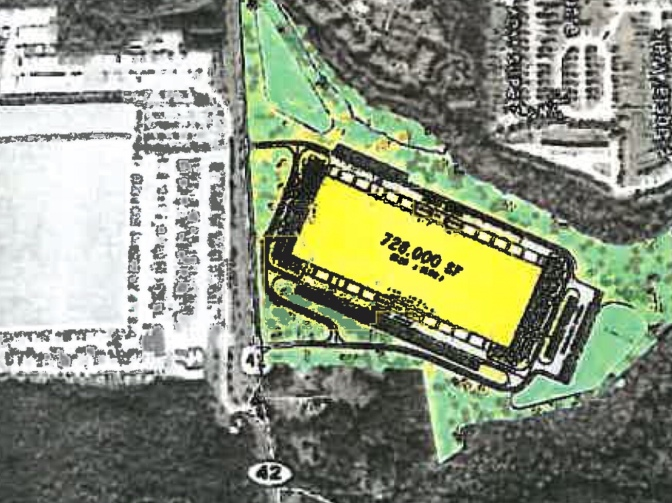 Map showing the location of McDonough Commerce Center II on State Route 42