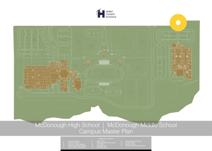Campus Map for McDonough High and McDonough Middle