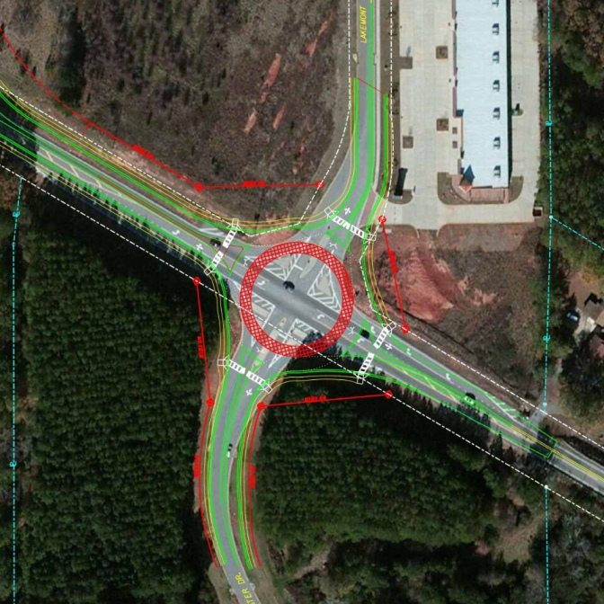 Proposed roundabout at SR 81 and Postmaster Drive
