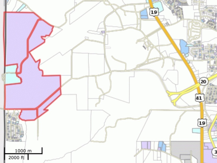 Map showing location of Lower Woolsey Henry 780 LLC