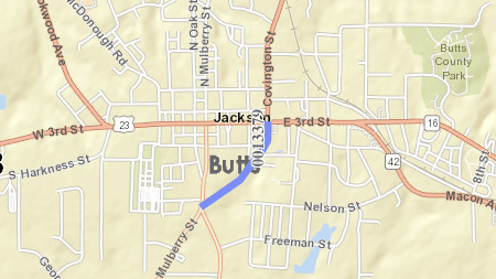 Map of proposed new roadway to connect state route 36 in Jackson