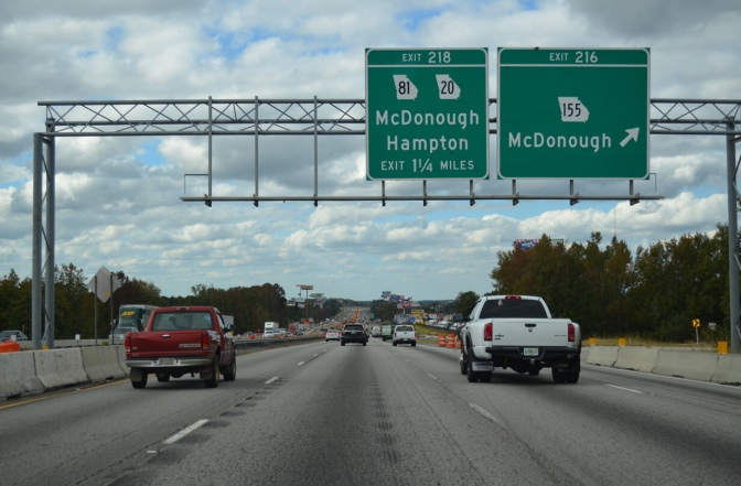 Photo of I-75 at exit 216