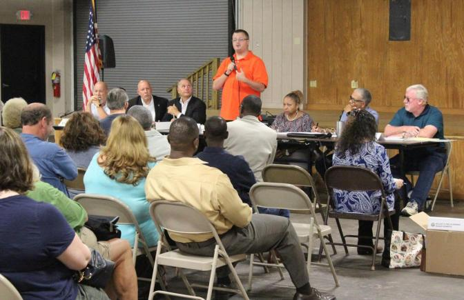 Audience at Nash Farm Park SPLOST meeting