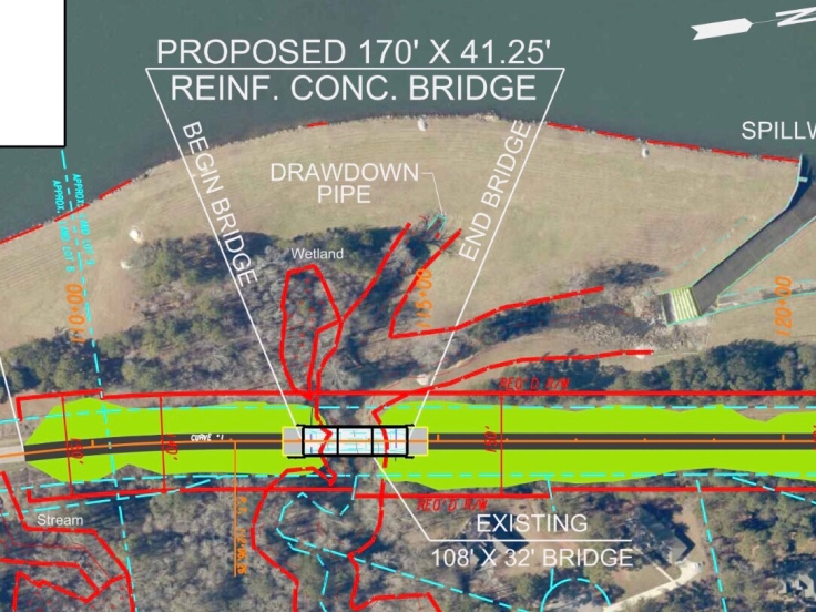 Map of Blackhall Road over Rum Creek bridge replacement