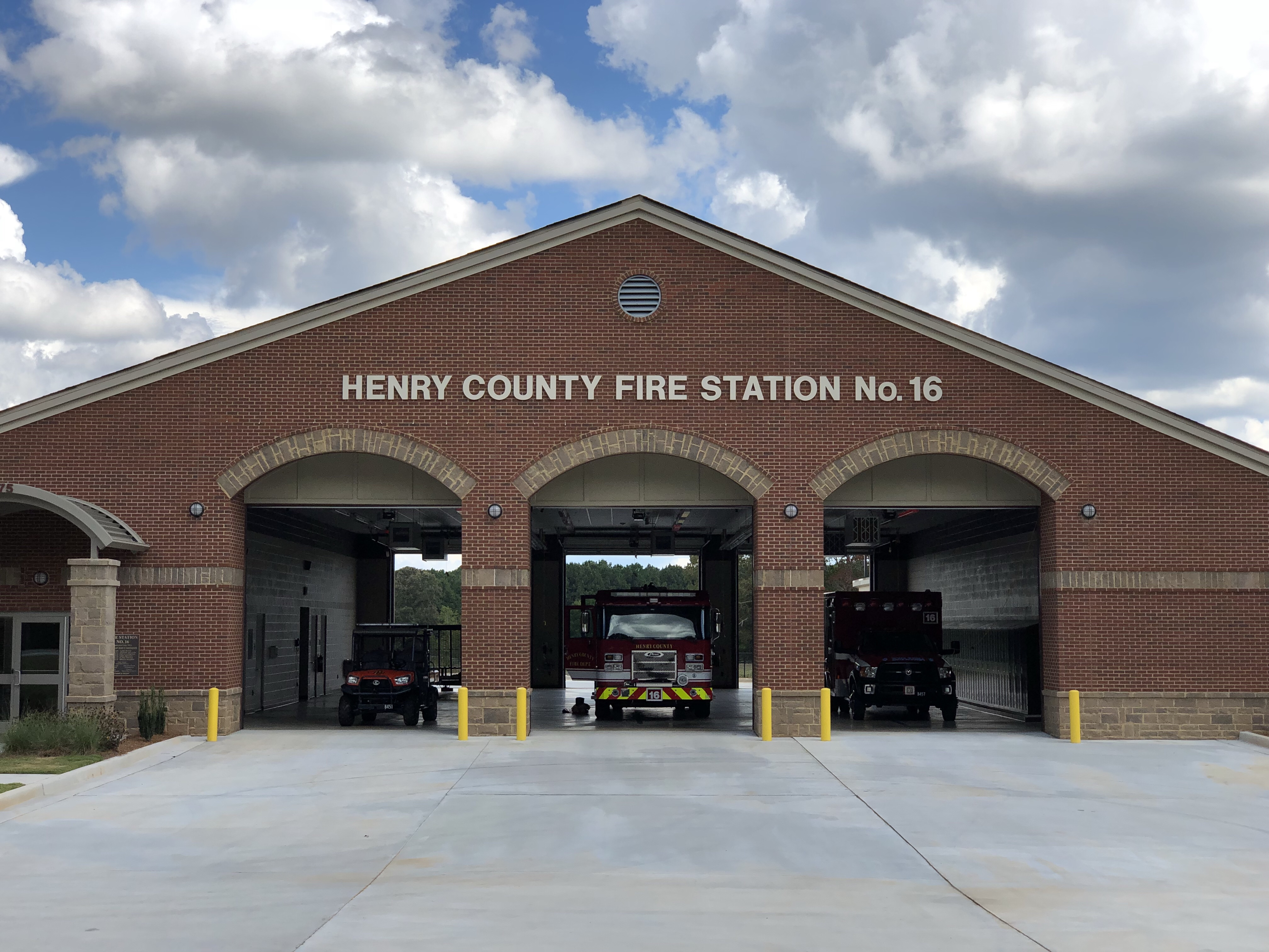 Photo of Henry County Fire Station 16 in Kelleytown (staff photo)