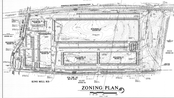 Site plan for Majestic Realty Company development from 2007 (Atlanta Regional Commission photo)