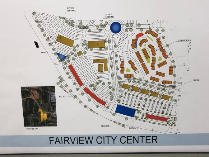 South site plan for Fairview City Center (staff photo)