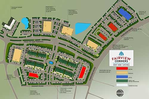 Site plan for Fairview Corners