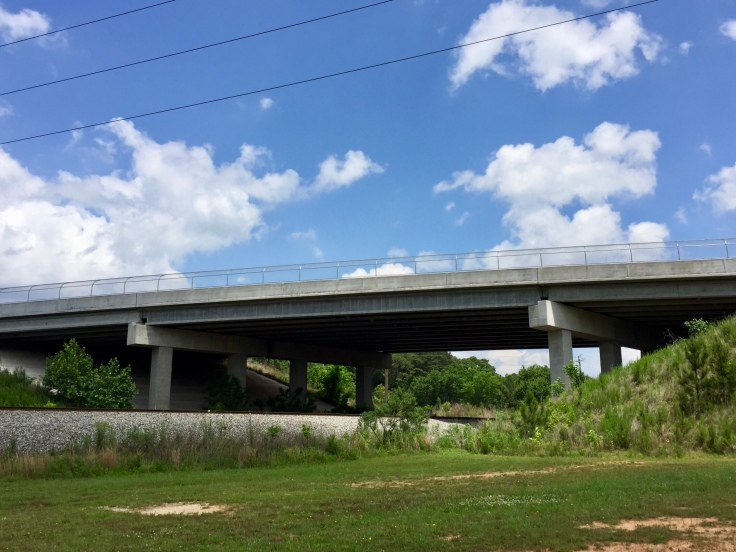 Photo of bridge on Rock Quarry Road over the railroad (staff photo)