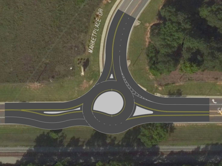 Concept design for US 23 / SR 42 at Marketplace Blvd