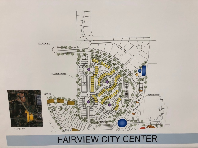 North site plan for Fairview City Center (staff photo)