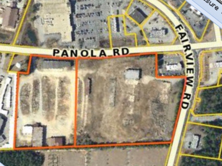 Map of Fairview land purchase for public safety complex