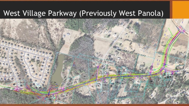 Map of West Village Parkway widening