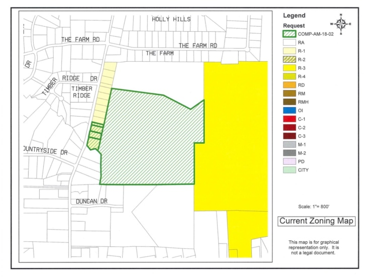 Location of North Ola Henry 163 LLC proposed rezoning