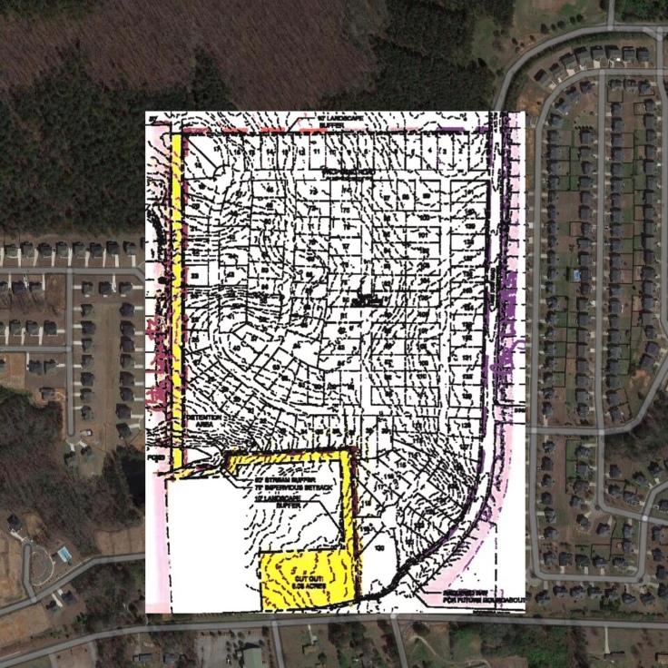 Concept site plan for Lake Dow Road subdivision