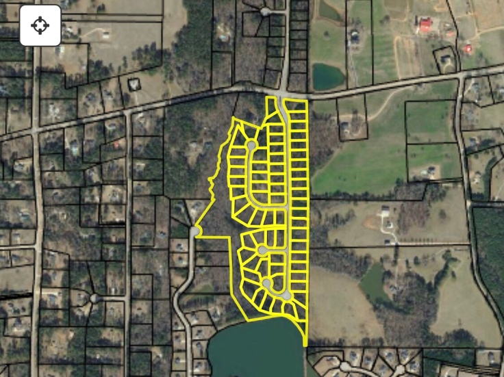 Map of Brightwood on the Lake subdivision