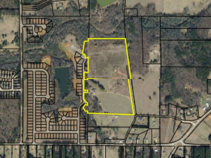 Map highlighting Berkeley Lakes subdivision phase II in Locust Grove (Henry County photo)