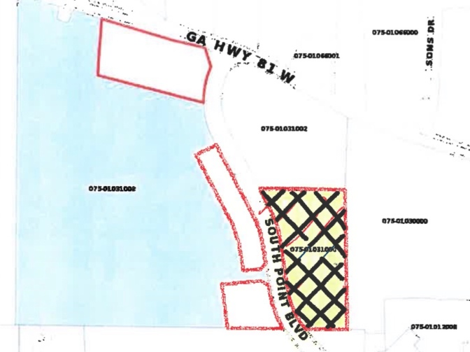 Location of South Point Boulevard rezoning
