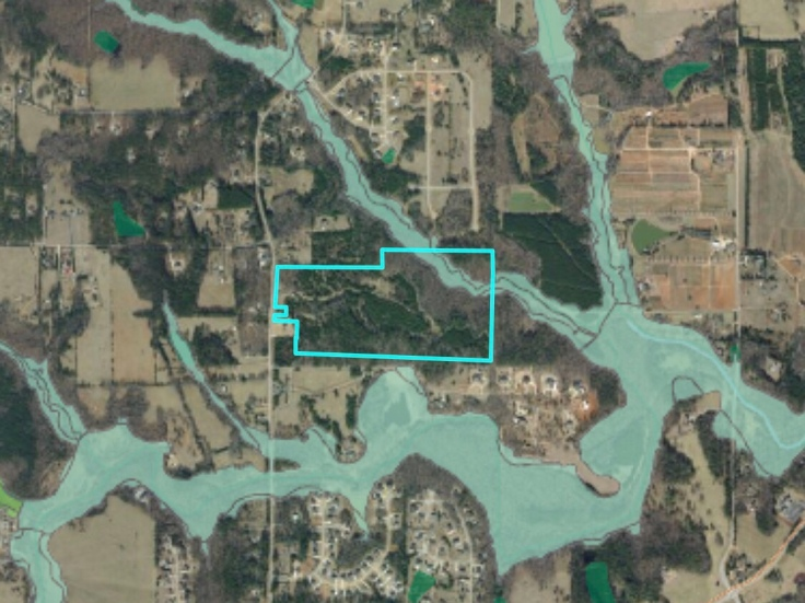 Map of Elliot Road conservation subdivision