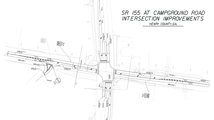 Construction plans for Campground Road at SR 155 intersection improvements