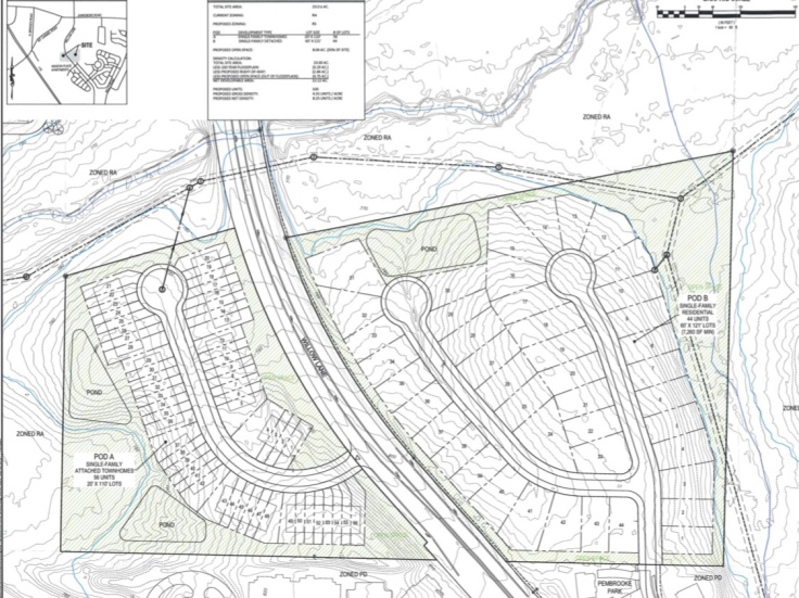 Concept site plan for Willow Lane townhomes