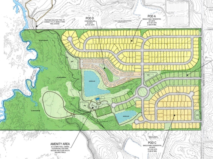 Concept site plan for Millers Mill Road