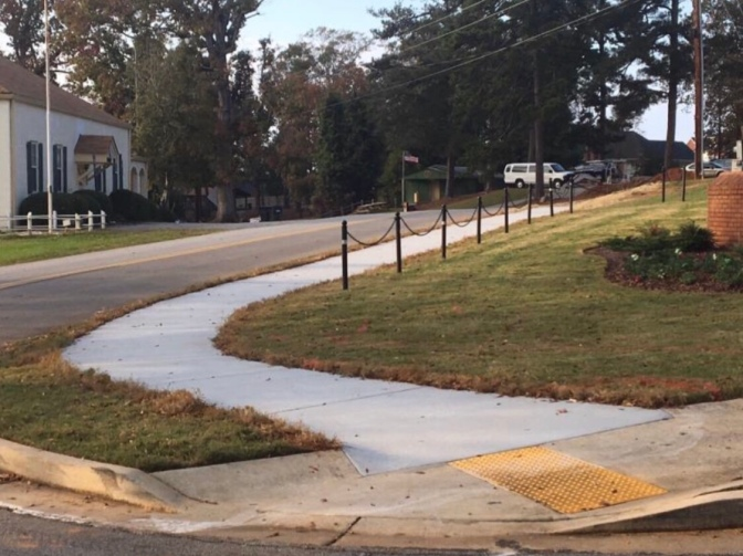 Photo of sidewalks in McDonough