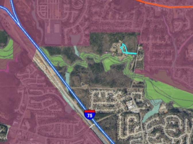 Map of 380 Flippen Road and proposed Stockbridge International Business Center