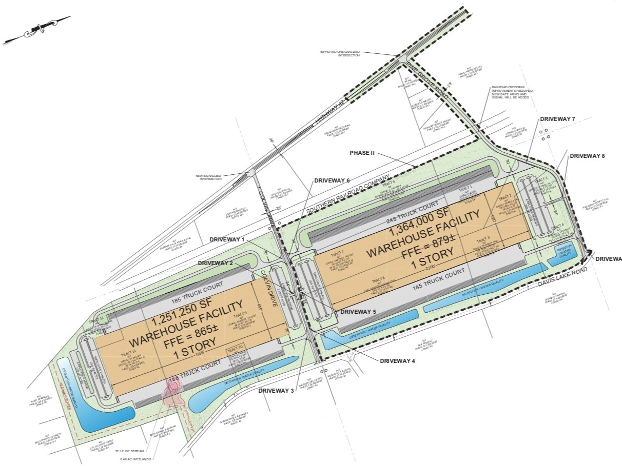Site plan for 75 South Logistics Center