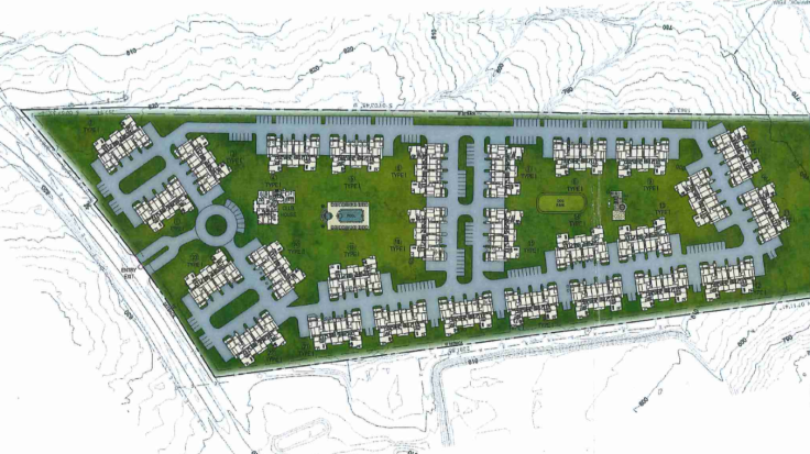 Mt Carmel Road apartments site plan