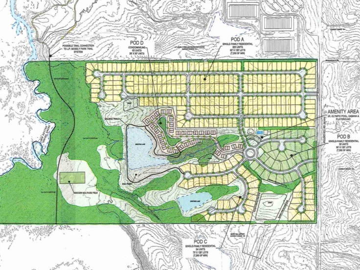Revised concept site plan for Millers Mill Road rezoning request