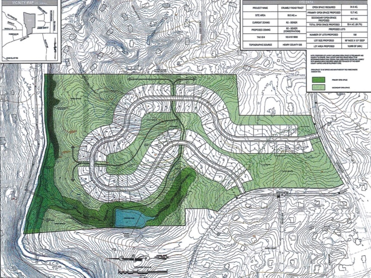 Proposed conservation subdivision on Crumbley Road
