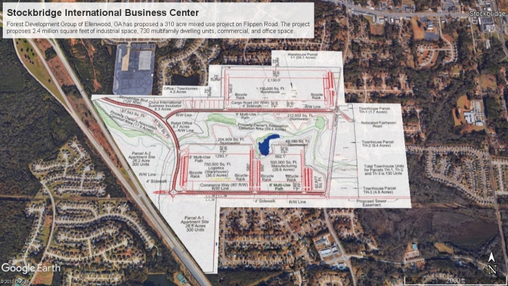 Stockbridge International Business Center site plan