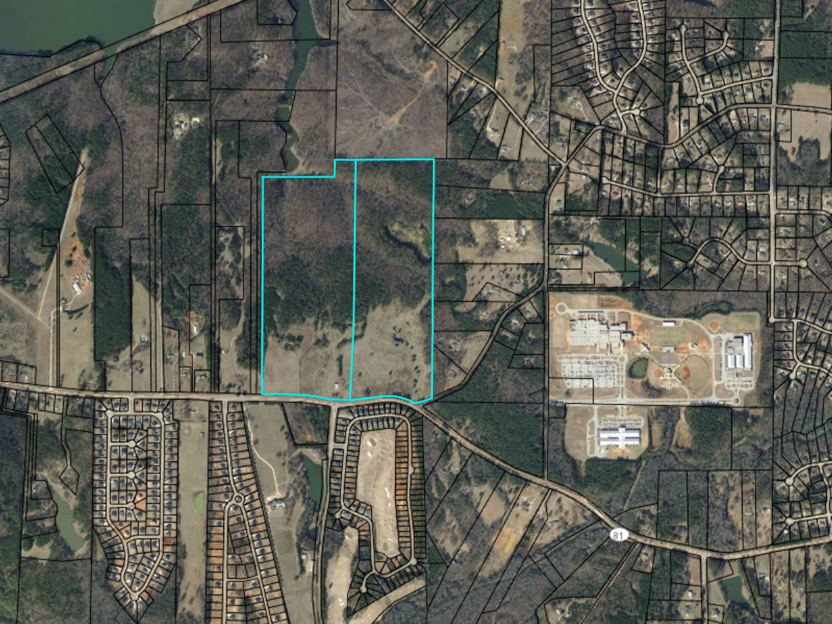 Location of Hybrass Properties development on Jonesboro Road