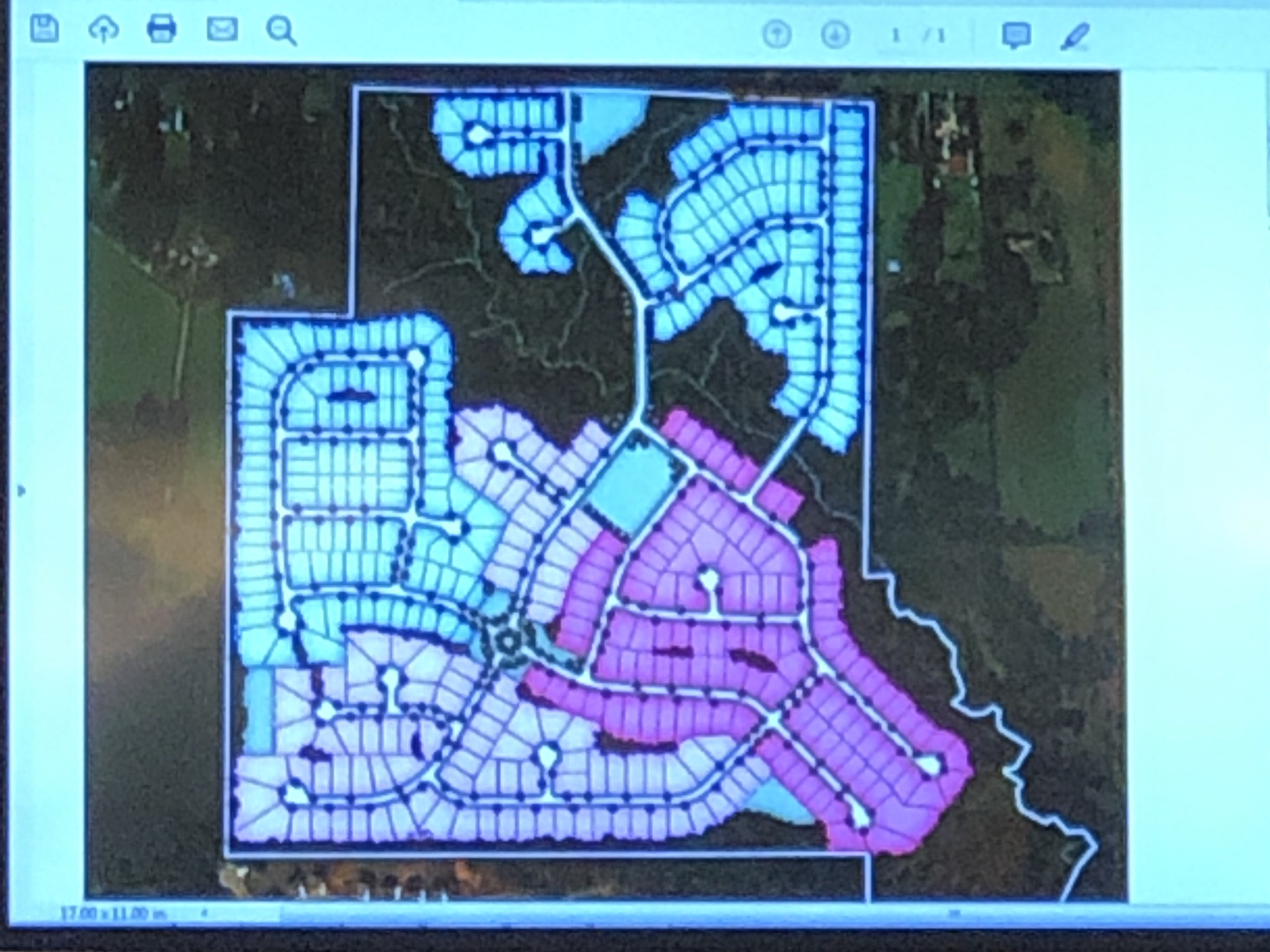 Concept site plan for Campground Road development