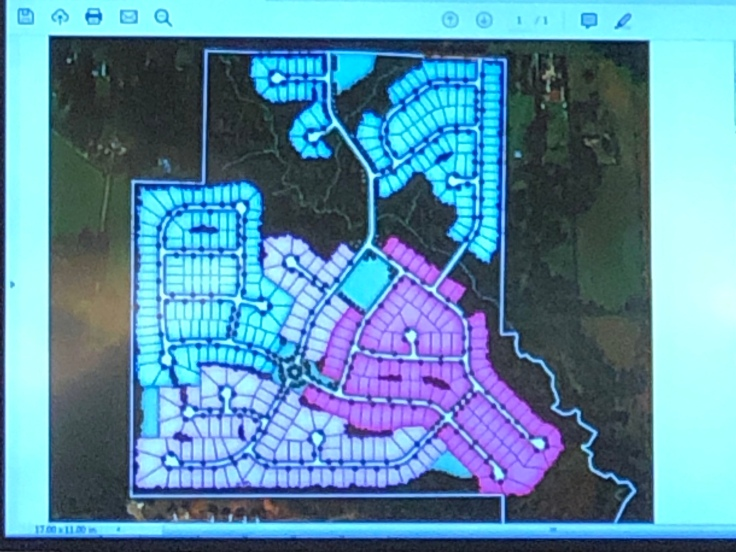 Concept site plan for proposed Campground Road annexation and R-75 subdivision