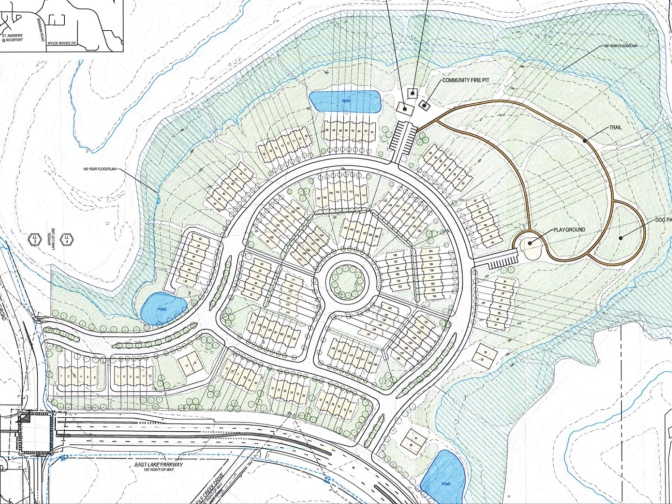 Proposed site plan for East Lake Parkway at Springdale Road development (applicant photo)