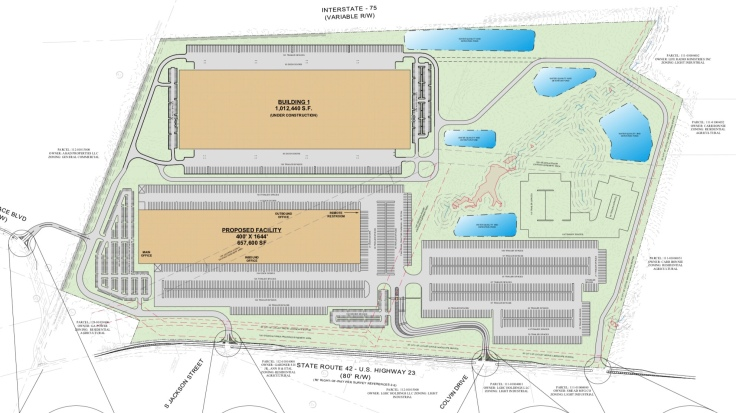 Site plan for Gardner 42 expansion