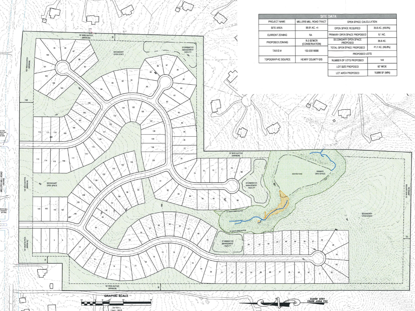 Concept site plan for proposed 1496 Millers Mill Road development (applicant photo)