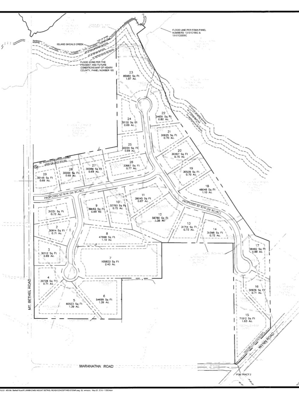 Concept site plan for 469 Mount Bethel Road subdivision