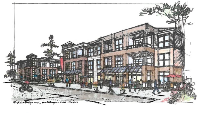 Architectural rendering for new South Point apartments