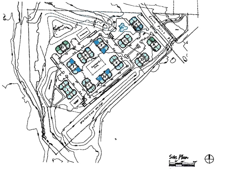 Concept site plan for ECI Ventures apartments in McDonough
