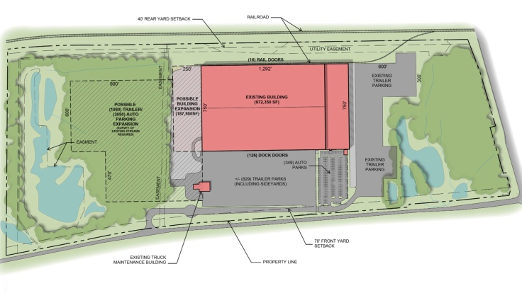 Site plan for 830 GA 42 S, McDonough (LRC Properties photo)