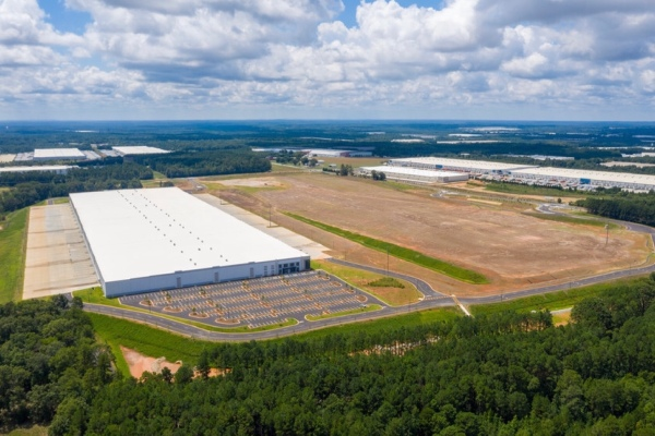 Drone photo of Southern Gateway at Lambert Farms industrial development in McDonough (real estate photo)
