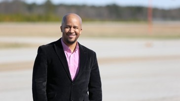 Photo of Daunte Gibbs at Atlanta Speedway Airport in February 2019 (AJC photo/ Emily Haney)